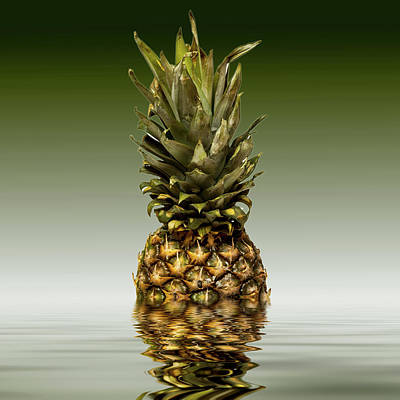 Photograph - Fresh Ripe Pineapple Fruits by David French