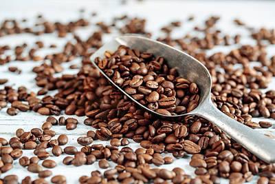 Turkish Photograph - Fresh Roasted Coffe Beans by Nailia Schwarz