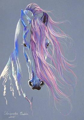 Fresian Stallion Art Print by Paulina Stasikowska