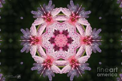 Digital Art - Frosted Double Pink Abstract by J McCombie