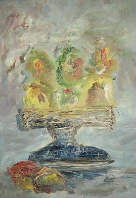 Fruit Basket Art Print by Edward Wolverton