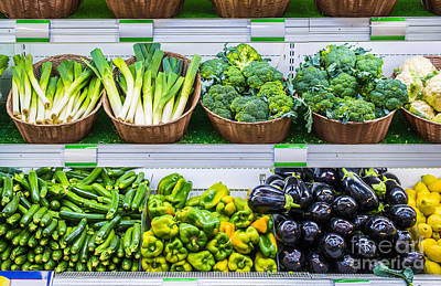 Photograph - Fruits And Vegetables On A Supermarket Shelf by Deyan Georgiev