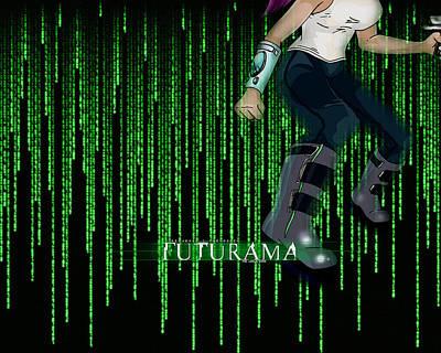Digital Art Digital Art - Futurama by Super Lovely