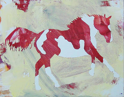 Painting - Galloping Pinto by Candace Shrope