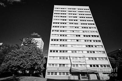 Galton Photograph - galton tower Birmingham civic gardens council tower block estate UK by Joe Fox