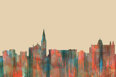 Digital Art - Galway Ireland Skyline by Marlene Watson
