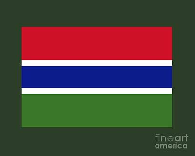 Gambia Flag Art Print by Frederick Holiday