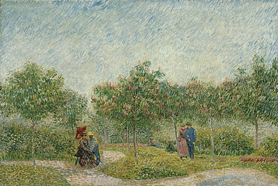 Painting - Garden In Montmarte With Lovers by Vincent van Gogh