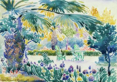 Garden Of The Painter At Saint Clair Art Print by Henri-Edmond Cross