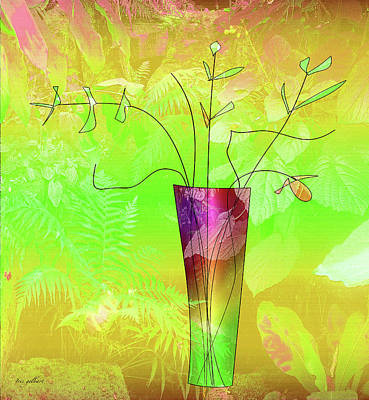 Digital Art - Garden Vase by Iris Gelbart