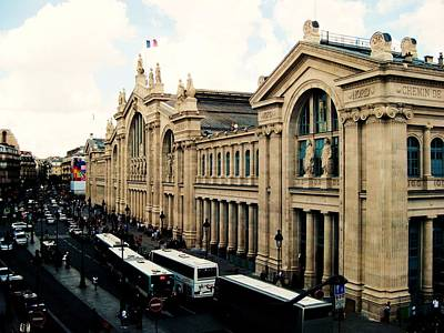 Gare Du Nord Print by Diana Moya