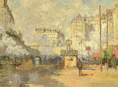 Gare Painting - Gare Saint Lazare by Claude Monet