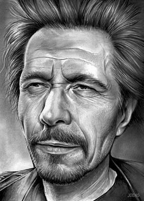 Celebrities Drawings - Gary Oldman by Greg Joens