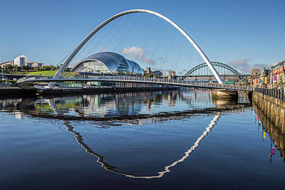 Photograph - Gateshead Millennium Bridge by David Pringle