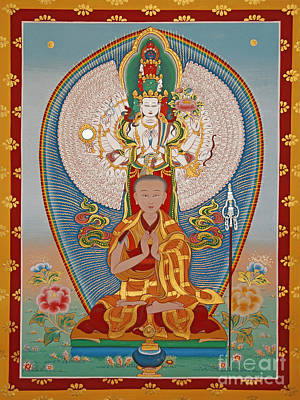 Thangka Painting - Gelongma Palmo by Sergey Noskov