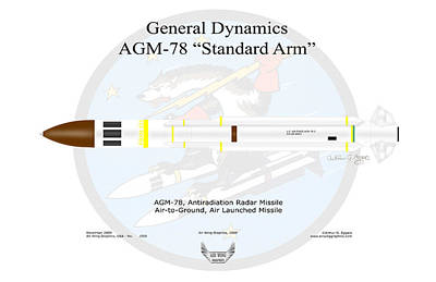 Digital Art - General Dynamics, Agm-78 Standard Arm by Arthur Eggers