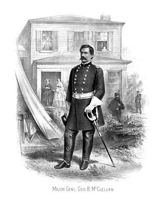American Civil War Drawing - General George Mcclellan by War Is Hell Store