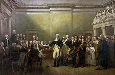 American Revolution Painting - General George Washington Resigning His Commission by John Trumbull
