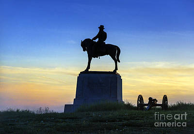 General Howard Monument At Cemetery Hill Art Print by John Greim