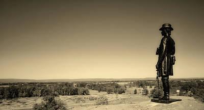 Photograph - General Warren Statue - Gettysburg by L O C