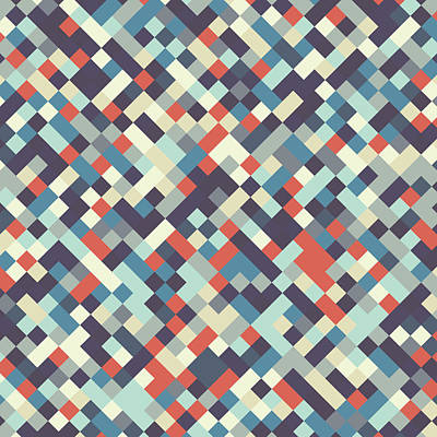 Digital Art - Geometric Print by Mike Taylor