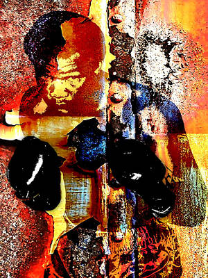 Heavyweight Mixed Media - George Foreman Collection by Marvin Blaine