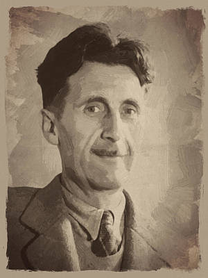 Quotation Digital Art - George Orwell 2 by Afterdarkness