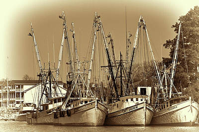 Art Print featuring the photograph Georgetown Shrimpers by Bill Barber