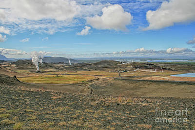 Photograph - Geothermal Landscape With Steam Columns by Patricia Hofmeester