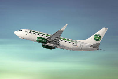 Mixed Media - Germania Boeing 737-76j by Smart Aviation