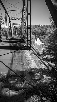 Nostalgic Photograph - Ghost Bridge In Black And White by Kelly Hazel