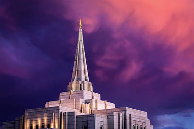 Photograph - Gilbert Temple Sunset by Joseph Plotz