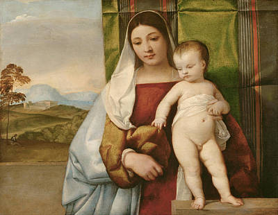 Child Jesus Painting - Gipsy Madonna by Titian