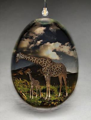 Giraffe Art Art Print