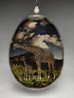 Mixed Media - Giraffe Art by Marvin Blaine