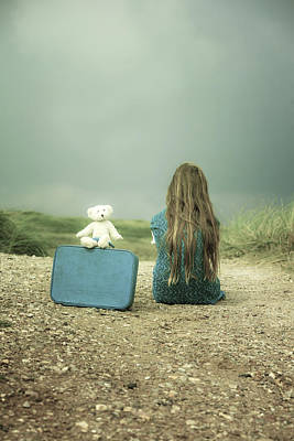 From Behind Photograph - Girl In The Dunes by Joana Kruse