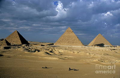 Giza Pyramids Art Print by Sami Sarkis