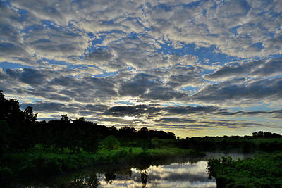 Photograph - Glacial Park Morning Clouds by Ray Mathis