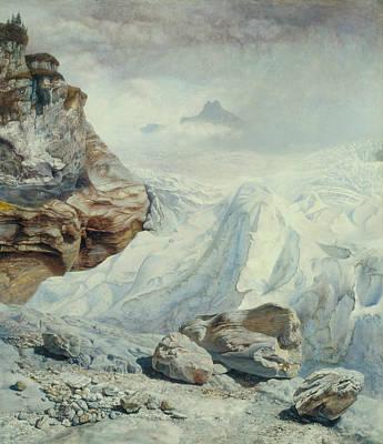 Brett Painting - Glacier Of Rosenlaui by John Brett