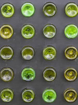 Empty Beer Cans Photograph - Glass Bottles by Chris Smith