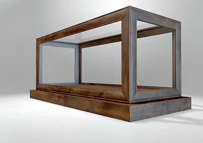 Business Digital Art - Glass Display Case Frame Horizontal by Allan Swart