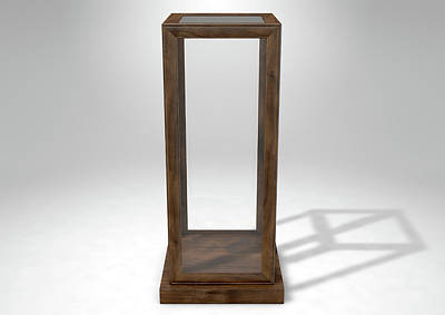 Glass Display Case Verticle Print by Allan Swart