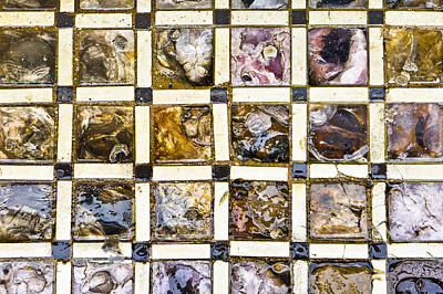 Mosaic Photograph - Glass Tiles by Tom Gowanlock