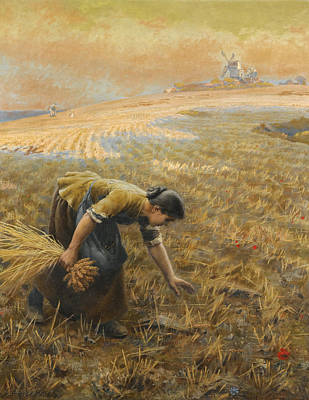 Gleaning Painting - Gleaning by Arthur Foord Hughes