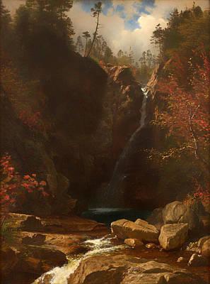 Beautiful Creek Painting - Glen Ellis Falls by Mountain Dreams