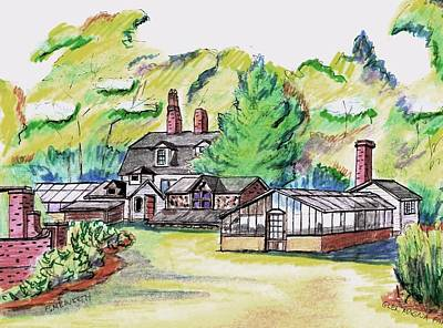 Glen Magna Farms Green House Art Print by Paul Meinerth