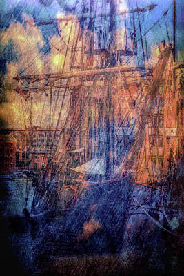 Photograph - Gloucester Docks by Ron Harpham