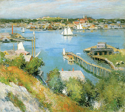 Photograph - Gloucester Harbor by Willard Leroy Metcalf