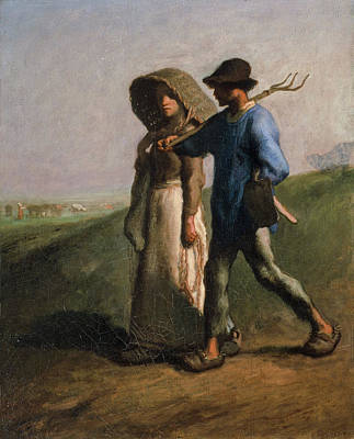Agriculture Painting - Going To Work by Jean-Francois Millet