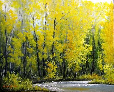 Painting - Golden Autumn by Boris Garibyan